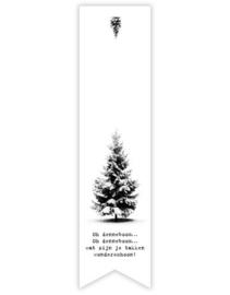 Sticker vaantje label - oh dennenboom  | 10 stk