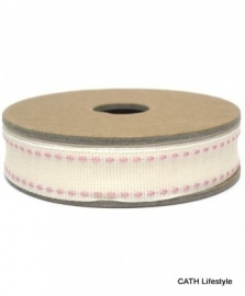 EI 3155 Band 3 meter spoel pink stiksel op creme
