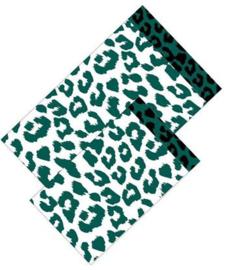 Zakjes leopard wit groen | 12x19cm | 5stk