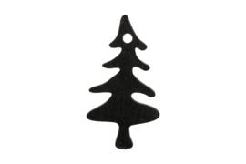Decoratieve houten boompjes   zwart   4stk
