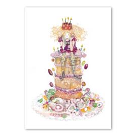 Dubbele kaart - Moniek Peek - Party Prinses