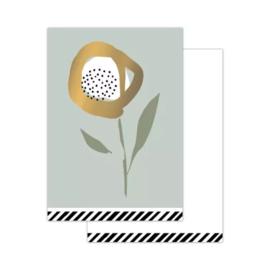 Klein kaartje - arts & craft - Sage green
