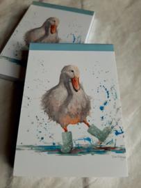Notitie blokje A7 | Deirdre Duck | blanco