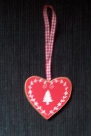 hart / Rood hout / kerstboom klein