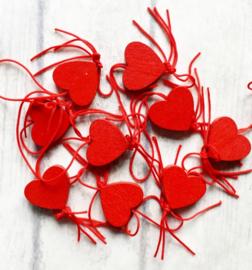 Gelukspoppetjes | hartje | rood