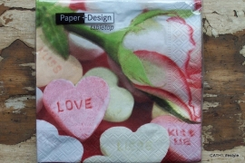 TI Servetten Love is sweet 33x33