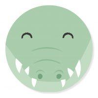 Sticker - snuit Kroko | 50mm | 10stk