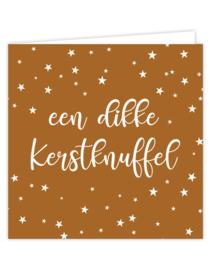 Wenskaart - kerst | een dikke kerstknuffel