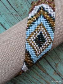Armband /  Ibiza Style kralen   gold