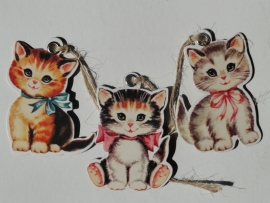 Labels  / Vintage Kittens / 3stk