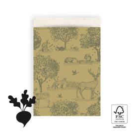 Zakjes Forest Animals green | 17x25cm | 5stk