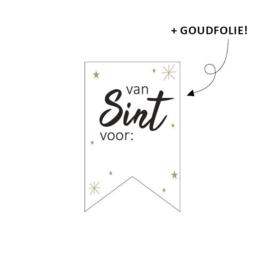Sticker sluitzegel vaantje,  van Sint voor..... | 10stk