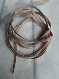 Linnen band taupe 3mm