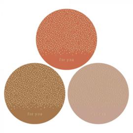 sticker sluitzegel mix - dots goud - For You | 55mm | 12stk