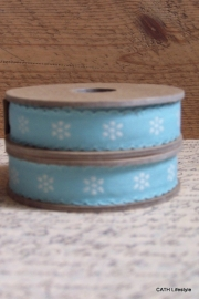 EI 3184 Band 3 meter spoel blauw met creme daisy