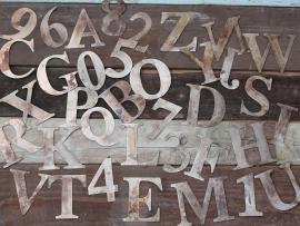 Metal Letters & Cijfers / SET