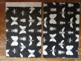Vlakke Zakken / Insecten zwart / 5 stk