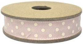EI 3066 Band 3 meter spoel pink met creme stippen