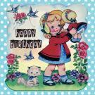 Kaart - Happy Birthday - Dolly girl | inclusief envelop