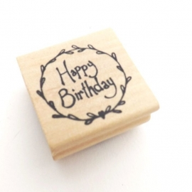 "Stempel / rond ""Happy Birthday"" / EI 3653"