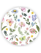 Sticker sluitzegel rond | bloemen | 65mm | 6 stk