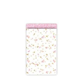 Kado zakjes | sow pink | 12x19cm | 5stk