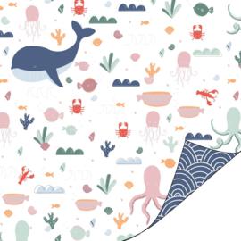 Inpakpapier kadopapier - Ocean Life | 30cmx1m
