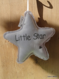 OM Little Star linnen kussen wit