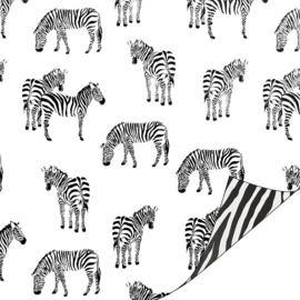 Inpakpapier kadopapier - Zebra /zwartwit | 30cmx1m