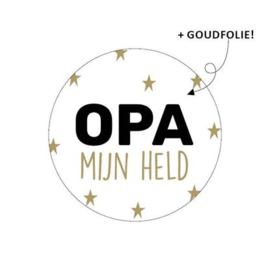 Sticker sluitzegel | opa mijn held | 5stk