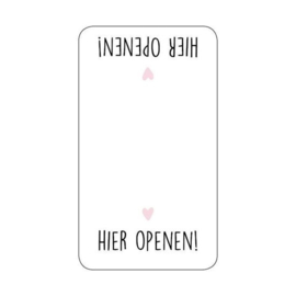 Stickers - sluitzegels / Hier Openen / 10 stk