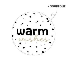 Sticker sluitzegel - kerst   Warm wishes   40mm   20stk