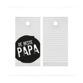 Kado label kaartje  - de beste papa - pstk