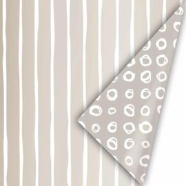 Inpakpapier kadopapier - line art chique | 30cmx2m