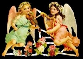 ME 7127 Poezie plaatjes engelen muziek