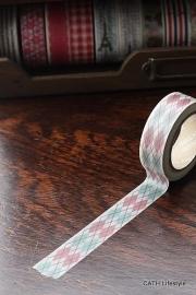 Masking tape  / rood groen ruit