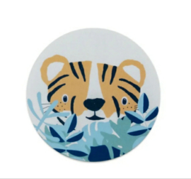 Sticker sluitzegel tijger  | 5cm | 10stuks