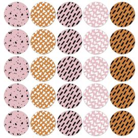 Sticker mix - naturel senses ethnic warm   50mm   10stk