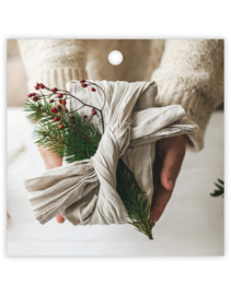 Cadeau kaartje | kerst - zero waste