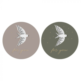 Sticker sluitzegel mix - birds - for you | 55mm | 12stk