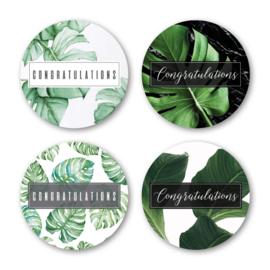 Sticker sluitzegel mix - congratulations | 40mm | 16stk