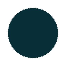Stickers - zegelrond donkerblauw - 15 stk