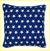 Kussenhoes / blauw met sterren / Clayre & Eef  40x40