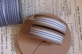 EI 2320 Band 3 meter spoel creme / blue / beige streep