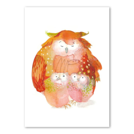 Dubbele kaart - Moniek Peek - Owls