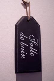 Houten label /Salle de Bain