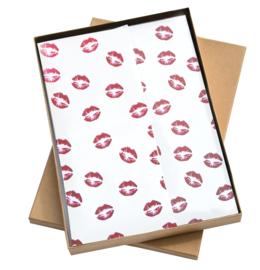 Vloeipapier - tissuepapier - kiss me tender - bordeaux- 50x70cm | 5stk