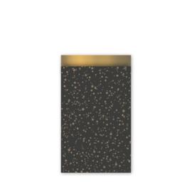 Kado zakjes Twinkling start zwart | 12 x 19 cm | 5stk