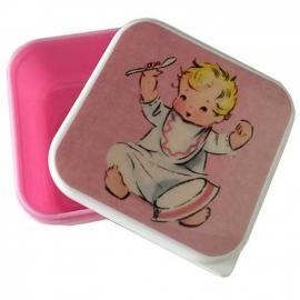 Fruit- snackboxje / Baby girl roze