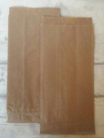 Zakje - Kraft  / 9 x 5,5 x 20 cm / 10 stk